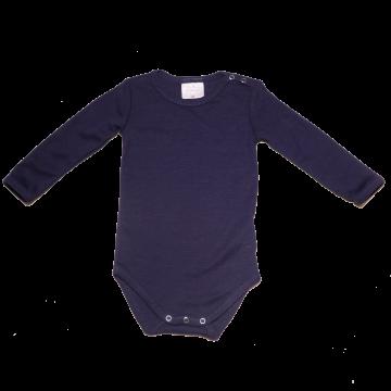 Body bleumarin din lână și mătase pentru bebeluși