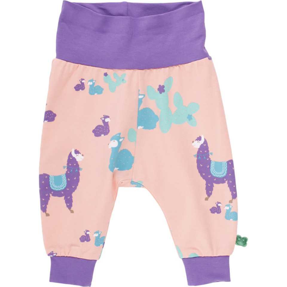 Pantaloni piersică cu imprimeu lame