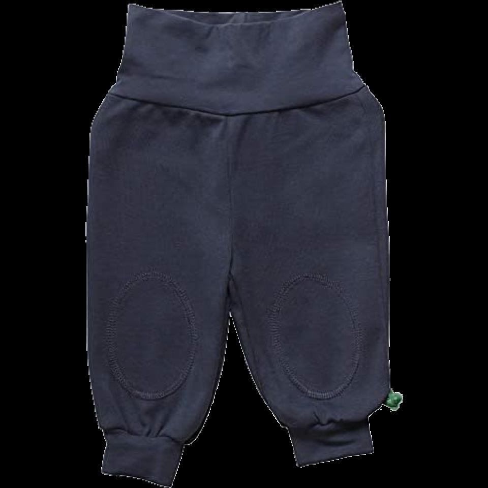 Pantaloni Alfa bleumarin din bumbac organic