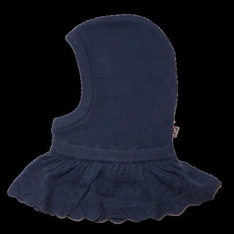 Cagulă bleumarin tricotată din bumbac pentru copii