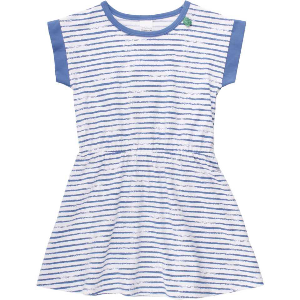 Rochiță albă cu dungi albastre