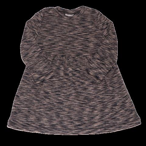 Rochie din bumbac fin cu mânecă lungă