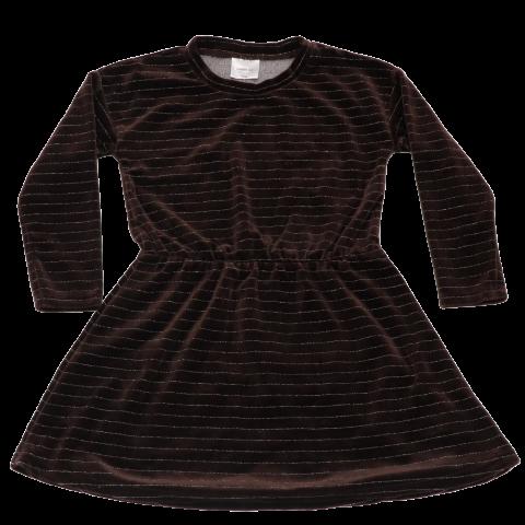 Rochie din catifea cu inserții strălucitoare din lurex