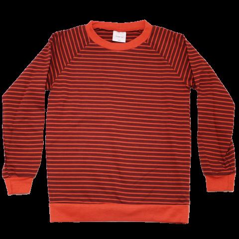 Bluză portocalie cu dungi maro