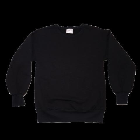 Bluză de trening neagră cu polar la interior