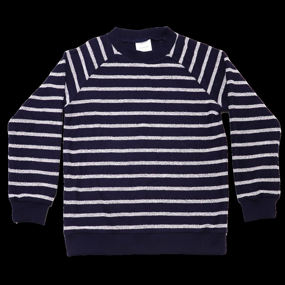 Bluză bleumarin cu mânecă lungă și dungi
