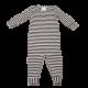 Salopetă în dungi cu mânecă lungă pentru bebeluși