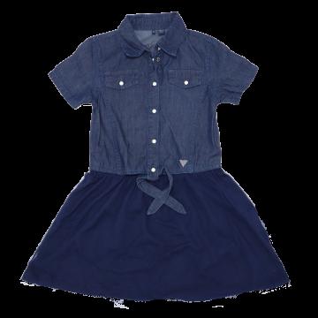 Rochiță albastră cu capse