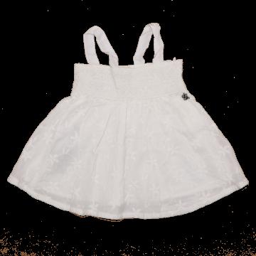Rochiță albă cu model brodat