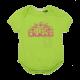 Body verde cu imprimeu logo roz cu sclipici