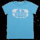 Tricou albastru cu imprimeu floral