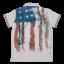 Tricou polo cu guler și imprimeu steagul SUA