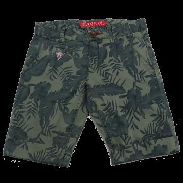 Pantaloni scurți verzi cu imprimeu vegetal Guess 5-6 ani (116cm)