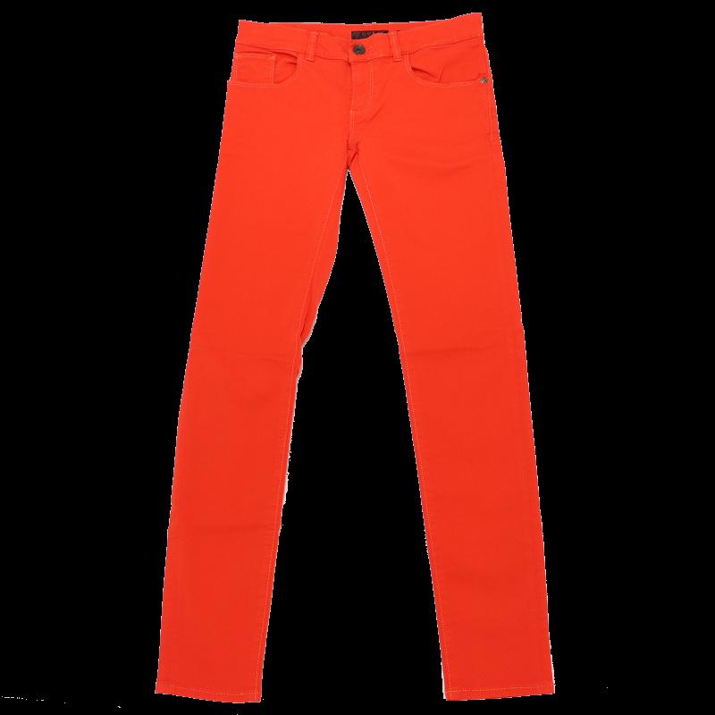 Pantaloni portocaliu electric