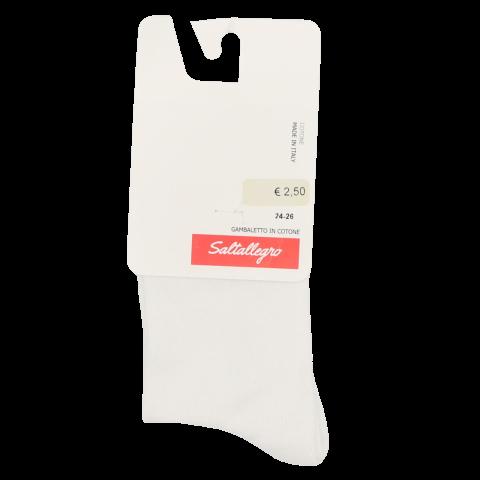 Șosete 3/4 albe, gamb cotone