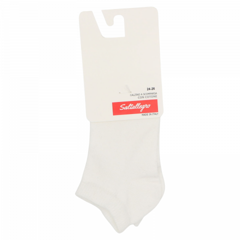 Șosete scurte albe calz scomparsa cotone