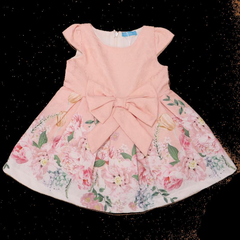 Rochie de ocazie cu imprimeu floral Lale bej