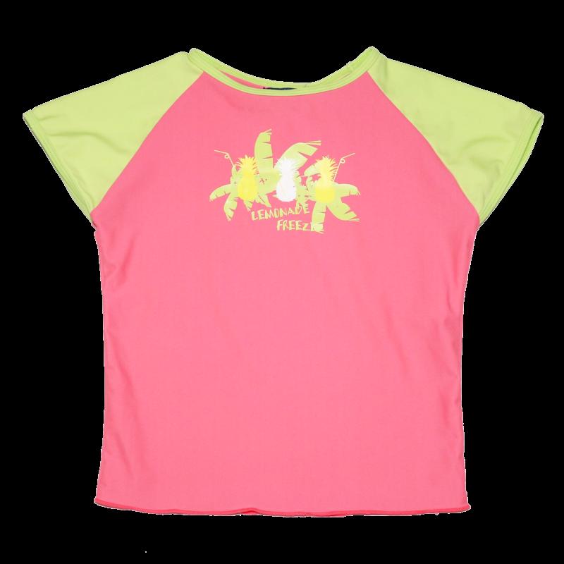 Tricou de baie roz și verde