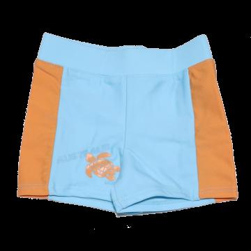 Slip de baie portocaliu și bleu