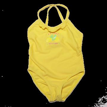Costum de baie întreg galben cu imprimeu sorbet citron