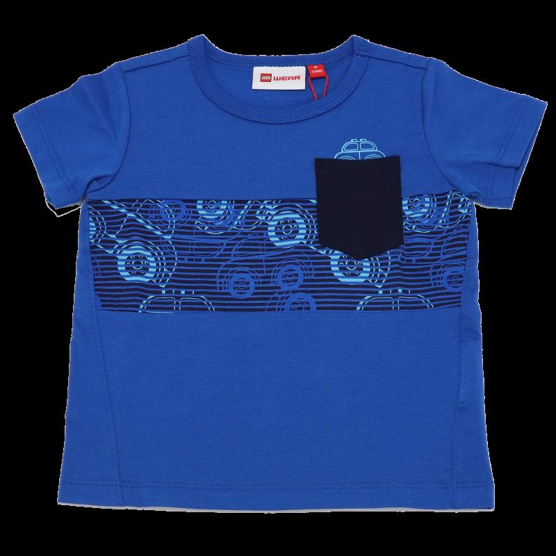 Tricou albastru cu imprimeu mașinuțe Terrence 322