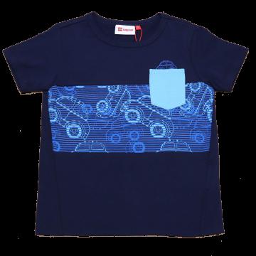 Tricou bleumarin cu imprimeu mașinuțe Terrence 322