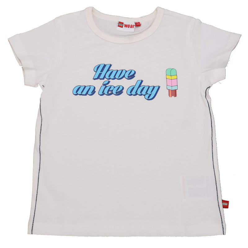 Tricou alb Have an ice day Tyler 308