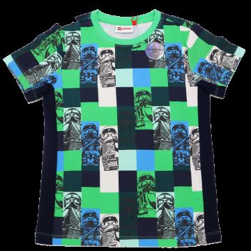 Tricou în nuanțe de verde și albastru Tiger 111