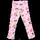 Leggings roz cu floricele Poline 103