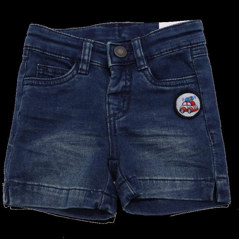 Pantaloni scurți din denim cu mașinuță