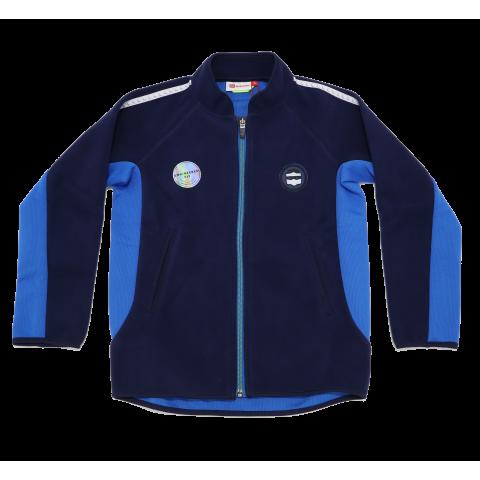 Cardigan fleece bleumarin și albastru Sebastian 604