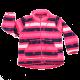 Hanorac fleece cu dungi roz, albe și mov închis Sander 770