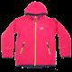 Geacă softshell, impermeabilă, windproof  roz cu detalii verzi