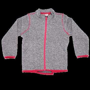 Hanorac fleece gri cu detalii roz Sander 772