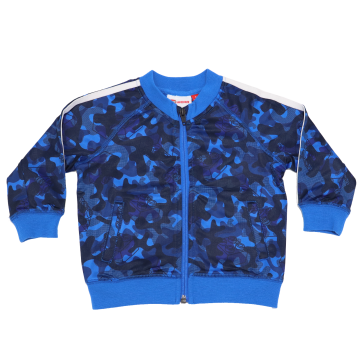 Hanorac cu imprimeu albastru și bleumarin Sander 604