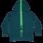 Hanorac verde cu glugă Siam 117