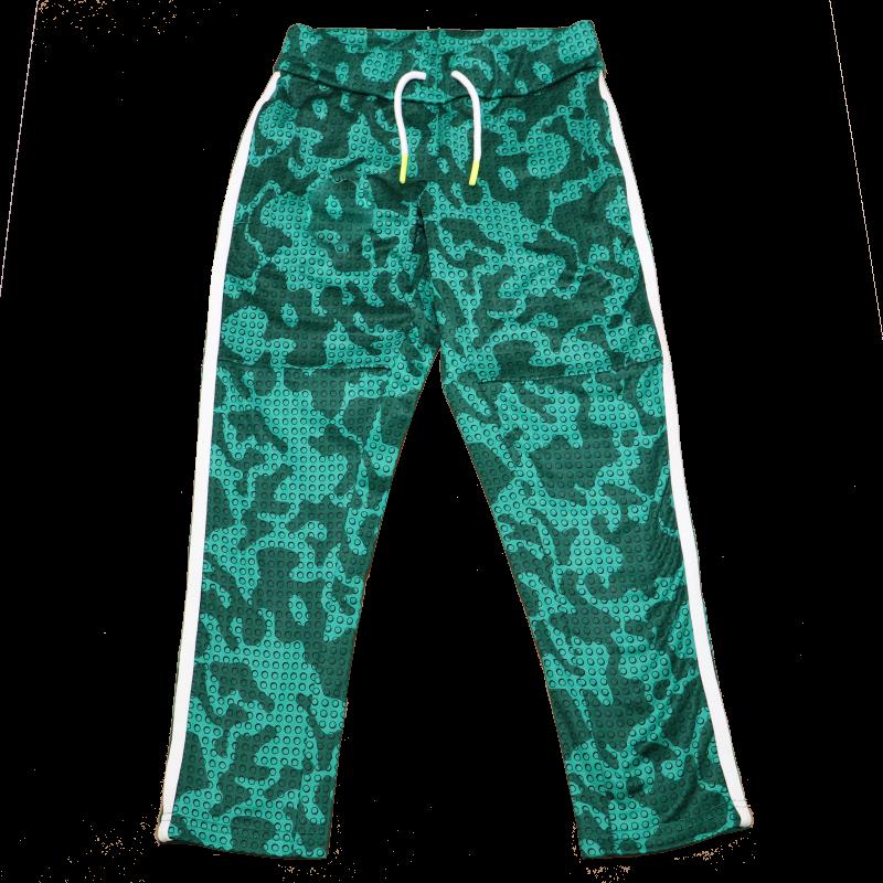 Pantaloni de trening cu imprimeu verde