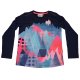 Bluză sport bleumarin cu imprimeu roz Thea 603