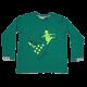 Bluză verde cu imprimeu figurină schior Thomas 603