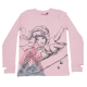 Bluză roz cu imprimeu fosforescent Tanya 605