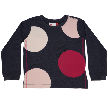 Bluză gri cu cerculețe Thea 602