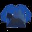 Bluză albastră cu imprimeu fosforescent Tyler 609