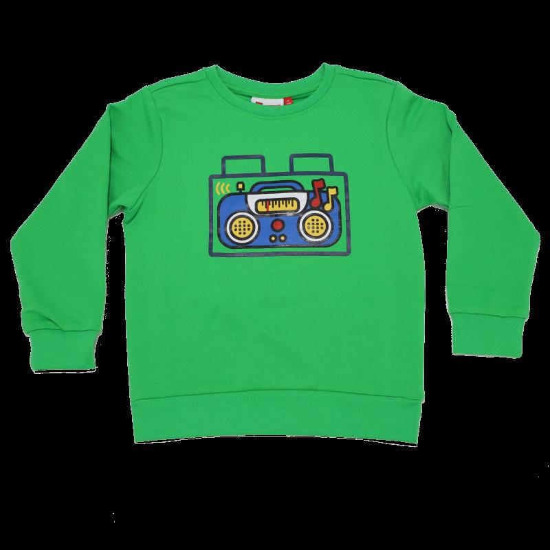 Bluză verde cu imprimeu casetofon Sirius 102