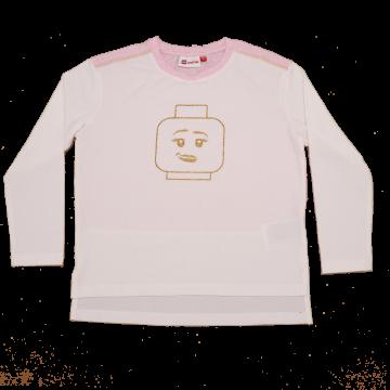 Bluză albă cu imprimeu figurină Tanya 706