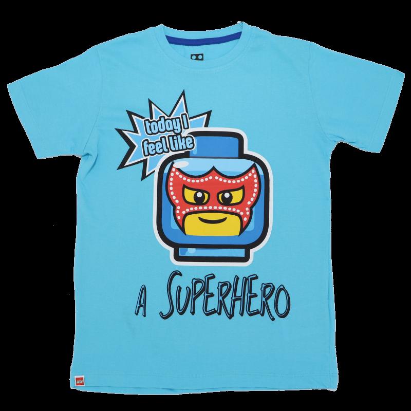 Tricou bleu Today I Feel Like a Superhero