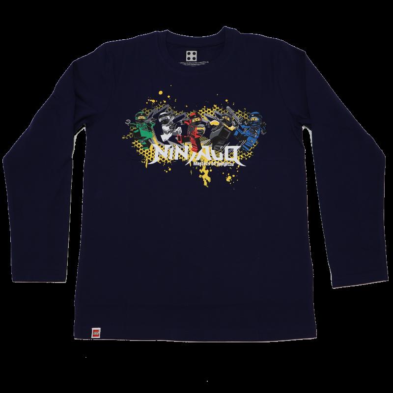 Bluză bleumarin cu imprimeu Ninjago