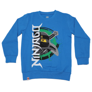 Bluză grosuță albastră/ bleumarin Ninjago