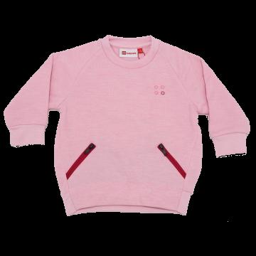 Bluză grosuță roz cu două buzunare Summer 701