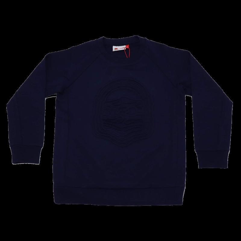 Bluză bleumarin cu imprimeu în relief Siam 103