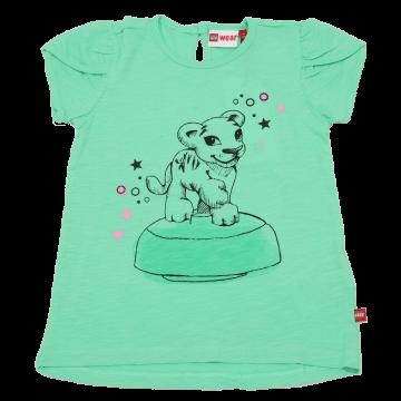 Tricou verde cu figurină tigru Thea 304